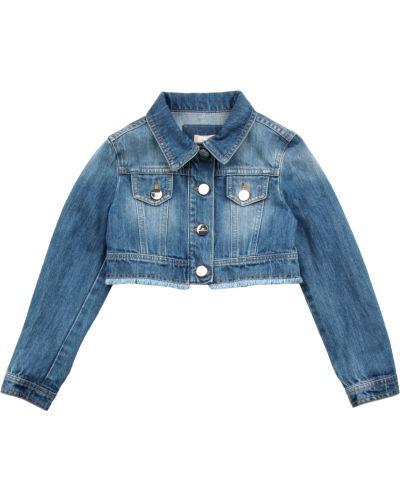 Niebieski kurtka jeansowa Elisabetta Franchi