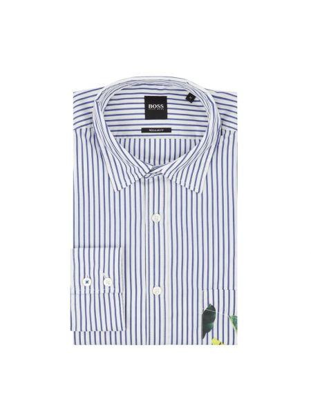 Koszula z długim rękawem w paski z paskami Boss Casualwear
