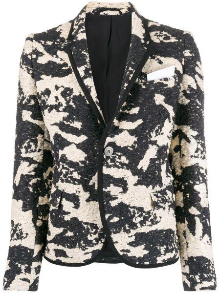 Шелковый черный пиджак с карманами Neil Barrett