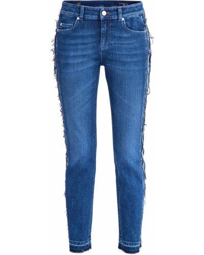 Укороченные джинсы с низкой посадкой слим фит Alexander Mcqueen