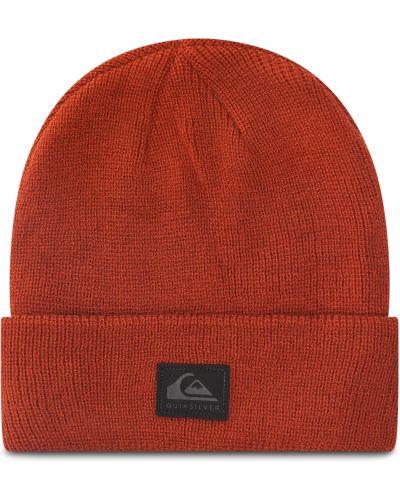 Brązowa czapka z akrylu Quiksilver