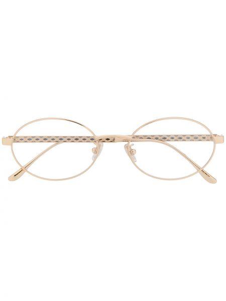 Золотистые прямые желтые очки для зрения Jimmy Choo Eyewear