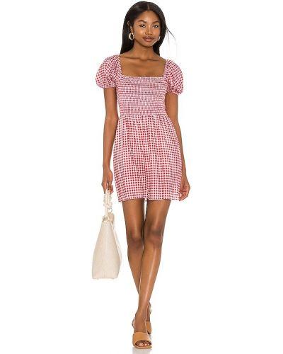 Облегченное текстильное красное платье мини Show Me Your Mumu