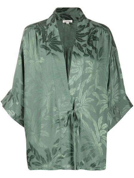 Свободные с рукавами зеленый халат свободного кроя Love Stories