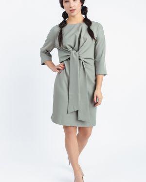 Платье с поясом серое через плечо Lacywear