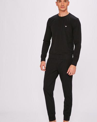 Черная пижама свободная Emporio Armani
