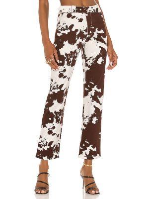 Brązowe spodnie z paskiem Miaou