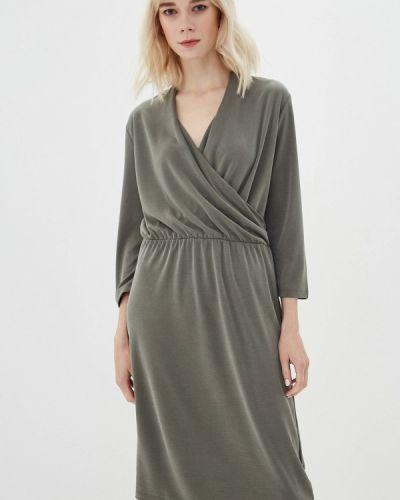 Платье с запахом зеленый Iwie