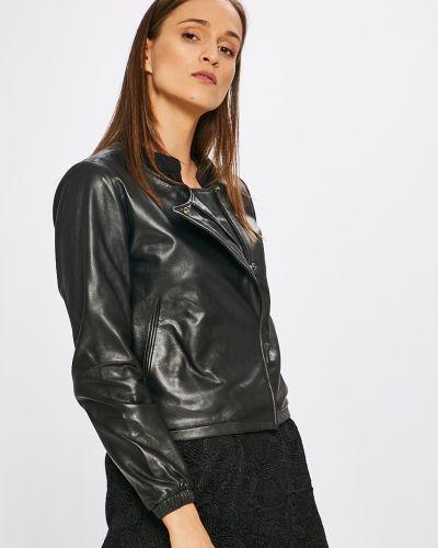 Кожаная куртка с карманами утепленная Scotch & Soda
