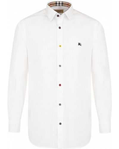 Белая рубашка хлопковая Burberry