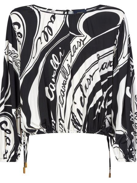 Блузка из вискозы - черная Cavalli Class