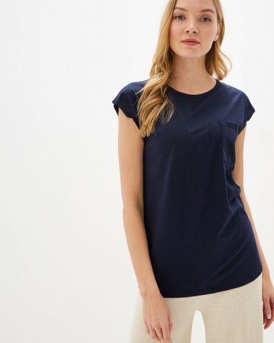 Синяя с рукавами футболка Intimissimi