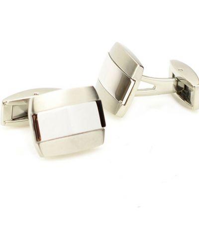 Запонки из серебра серебряный Colibri