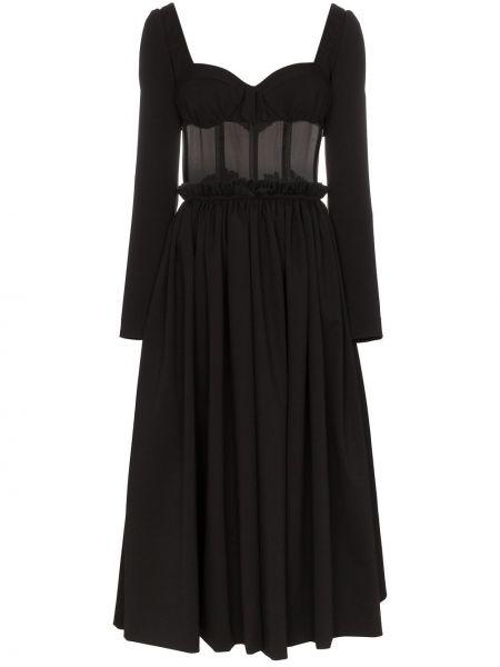 Платье миди с открытой спиной на молнии Rosie Assoulin