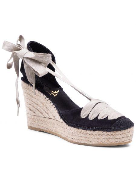 Czarne sandały zamszowe Vidorreta