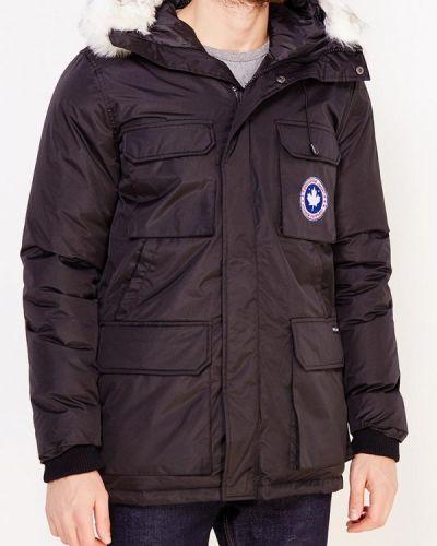 Зимняя куртка утепленная черная Paragoose