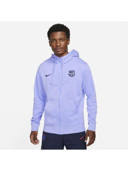 Bluza rozpinana z kapturem - fioletowa Nike