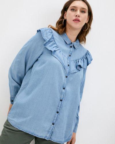 Джинсовая рубашка - голубая Zizzi