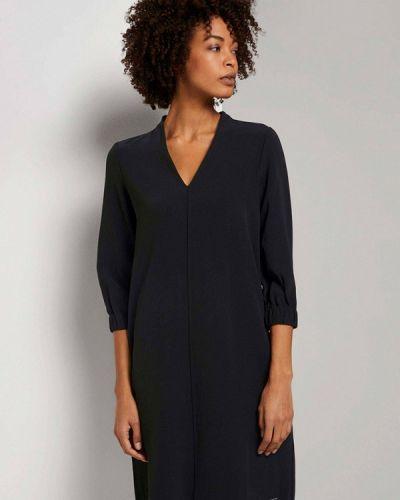 Прямое черное платье Tom Tailor