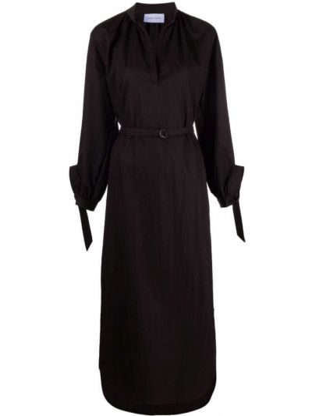 Черное платье макси длинное Christian Wijnants