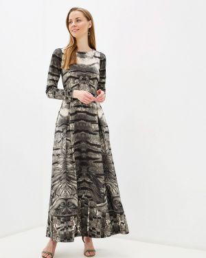 Платье серое прямое Sahera Rahmani