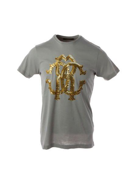 Szara t-shirt Roberto Cavalli