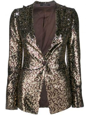 Куртка леопардовая с вышивкой Tagliatore