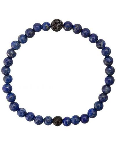 Браслет металлический синий Nialaya Jewelry
