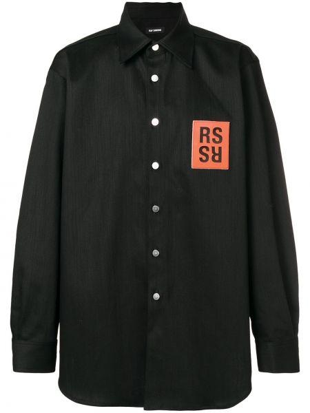 Koszula z długim rękawem klasyczna z logo Raf Simons