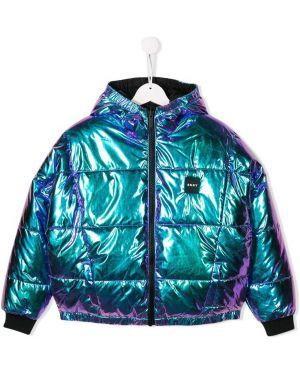 Куртка двусторонняя в рубчик Dkny Kids