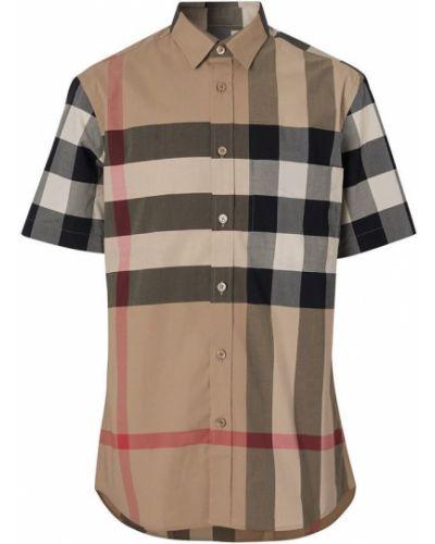 Koszula oversize - brązowa Burberry