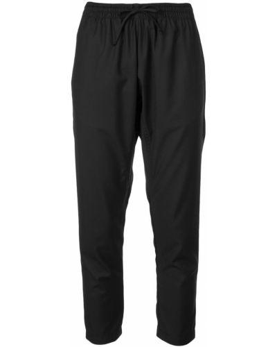 Черные укороченные брюки с поясом с манжетами The Celect