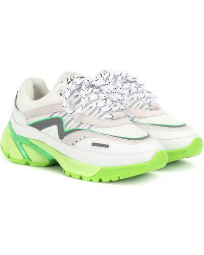 Кожаные кроссовки сетчатые белый Axel Arigato