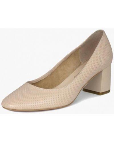 Туфли на каблуке кожаные бежевый Blizzarini