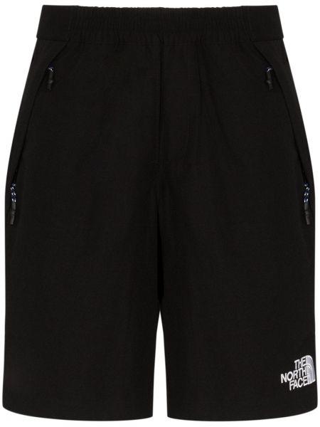 Czarne szorty jeansowe z haftem bawełniane The North Face Black Series