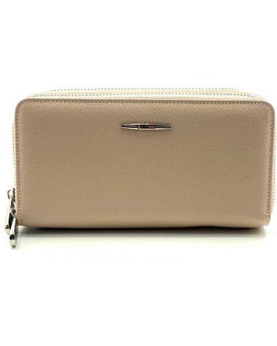 Кожаный портмоне - розовый Eminsa