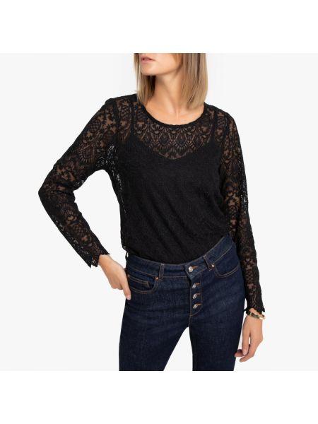 Блузка с длинным рукавом с вырезом длинная La Redoute