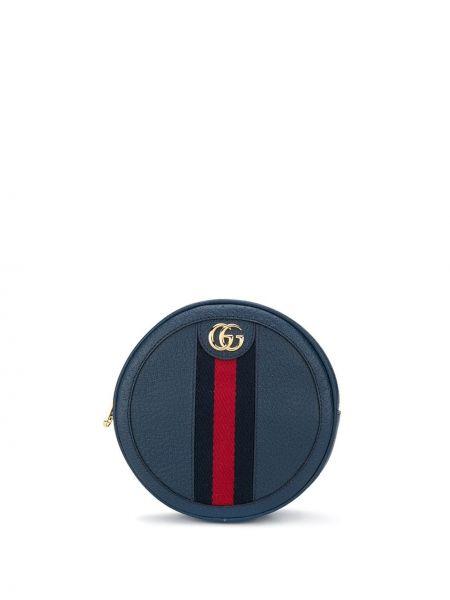 Skórzany plecak mało niebieski Gucci