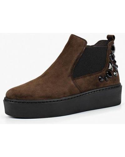 Кожаные ботинки осенние высокие Tamaris