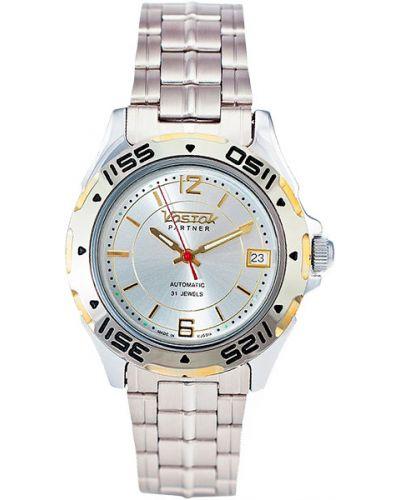 Часы механические водонепроницаемые позолоченные Vostok