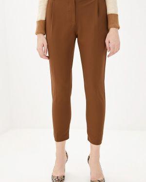 Коричневые классические брюки с карманами Pdk