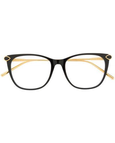 Черные классические очки квадратные Boucheron Eyewear