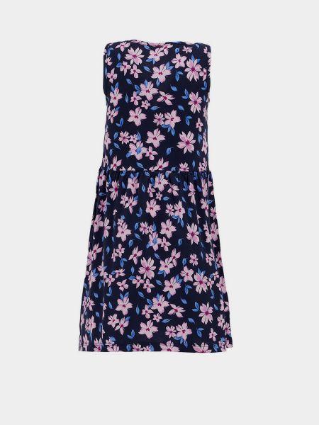Синее платье без рукавов Defacto