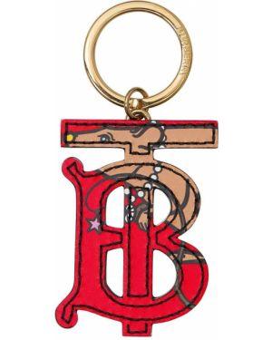 Brelok skórzany z logo Burberry