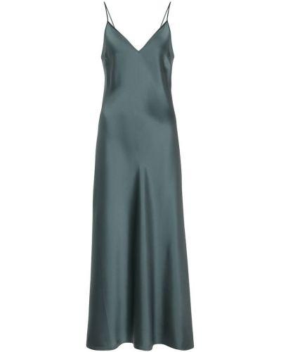 Шелковое платье миди - синее Joseph