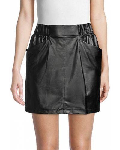 Черная юбка с карманами David Lerner