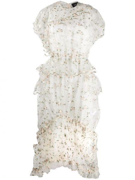 Платье мини миди с цветочным принтом Simone Rocha