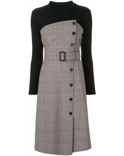 Платье с поясом на пуговицах классическое Loveless