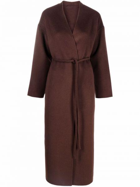 Коричневое длинное пальто Anine Bing