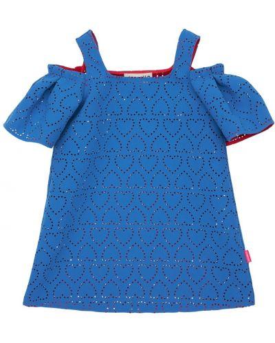 Платье на бретелях - синее Simonetta